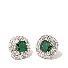 Victoria Wieck Absolute™ and Simulated Emerald Earrings