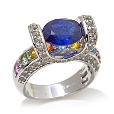 Victoria Wieck Multi Sapphire and White Zircon Ring