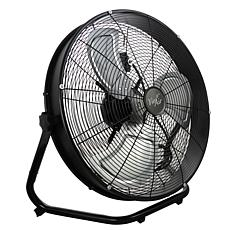 "Vie Air 20"" Industrial Floor Drum Fan with 3 Speed, 360 Tilt Head"