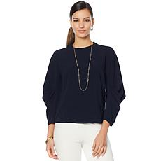 Vince Camuto Draped-Sleeve Top