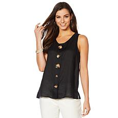 Vince Camuto Linen Tank with Buttons