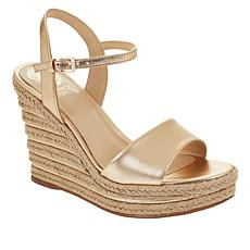 Vince Camuto Marybell Leather Espadrille Wedge Platform Sandal