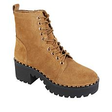 Vince Camuto Mecale Leather Platform Lug Hiker Boot