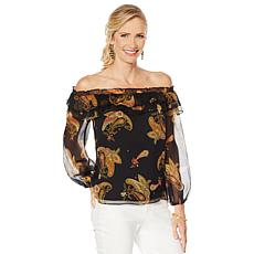 Vince Camuto Off-Shoulder Yoryu Ruffle Blouse