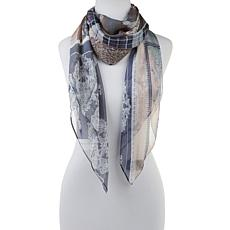 Vince Camuto Patchwork Silk Square Scarf