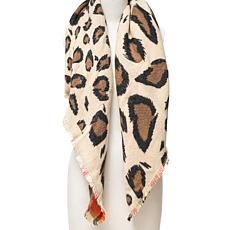 Vince Camuto Plaid to Leopard Reversible Blanket Wrap