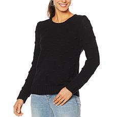Vince Camuto Popcorn Knit Crew Neck Sweater