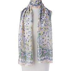 Vince Camuto Pretty Paisley Oblong Scarf