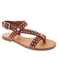 Vince Camuto Ravensa Leather Studded Thong Sandal
