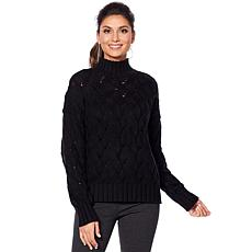 Vince Camuto Texture Stitch Mock-Neck Sweater