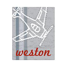 "Vintage Plane Personalized Canvas - 11"" x 14"""
