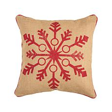 Vintage Snowflake Pillow