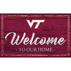 "Virginia Tech University Team Color Welcome Sign - 11x19"""