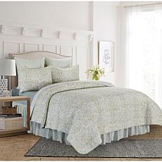 Volterra Damask Full/Queen Quilt Set