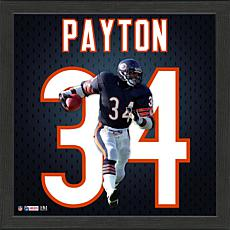 Walter Payton Impact Jersey Framed Photo