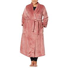 Warm & Cozy Plush Tie-Front Robe with Pockets
