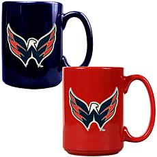 Washington Capitals 2pc Coffee Mug Set