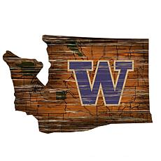 Washington Distressed State with Logo