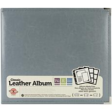 We R Classic Leather D-Ring Album 12X12 - Charcoal