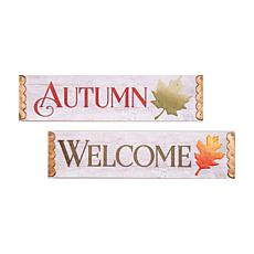 Welcome Autumn Wall Plaque, S-2