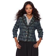 Wendy Williams Boucle Jacket with Faux Pearl Buttons