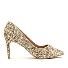 Wendy Williams Mid High-Heel Glitter Pump