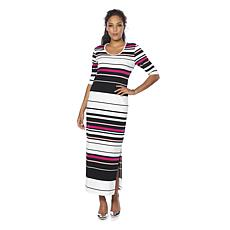 Wendy Williams Ottoman Rib Knit Maxi Dress