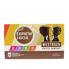 Westrock® Coffee Company Brew Box 80-count Variety Combo
