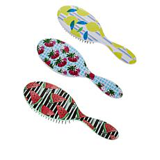 Wet Brush 3-piece Extra Fruit Detangler Set