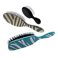 Wet Brush Detangle & Shine Safari Trio - Zebra