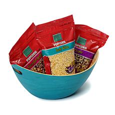 Whirley Pop 6 lb. Gourmet Popcorn Trio with Bowl