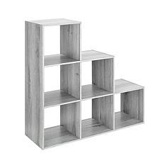 Whitmor 6-Section Step Organizer - Gray