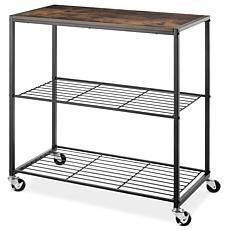 Whitmor Rolling 3-Tier Storage Shelves