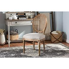 Wholesale Interiors Adelia Upholstered Dining Chair - Oak/Beige