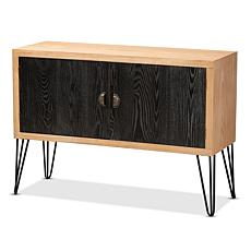 Wholesale Interiors Denali Wood and Metal Storage Cabinet