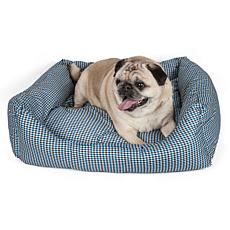 Wick-Away Plaid Rectangular Dog Bed - Large