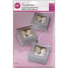 Wilton Cupcake Box 4 Cavity 3-pack - Silver