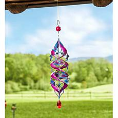Wind and Weather Butterfly Outdoor Metal Swirl Spinner