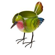 Wind and Weather Decorative Metal Bird Planter