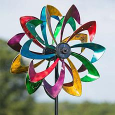 Wind and Weather Large Solar LED Flower Spinner