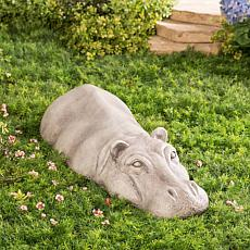 Wind and Weather Resin Resting Hippo Statue