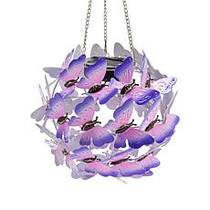 Wind and Weather Solar Hanging Butterfly Globe