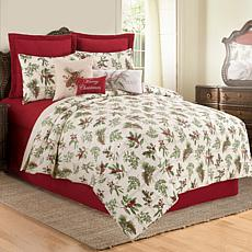 Winter Botanical Full/Queen Quilt Set