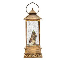 "Winter Lane 11"" Lighted Snow Globe Lantern"