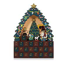"Winter Lane 16"" Christmas Tree Advent Calendar"