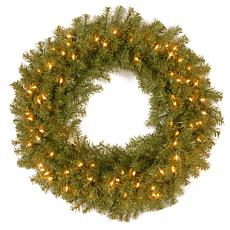 "Winter Lane 30"" Norwood Fir Wreath w/Lights"