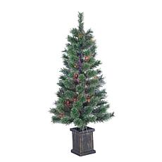 Winter Lane 3.5' Lighted Fiber Optic Potted Tree