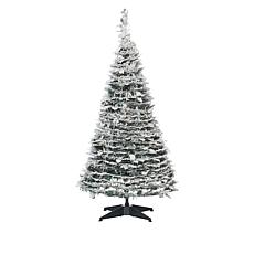 Winter Lane 4' Pop-Up Flocked Pine Pre-Lit Christmas Tree