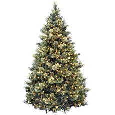 Winter Lane 7-1/2' Carolina Pine Hinged Tree w/Lights