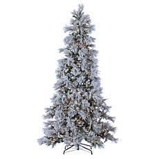 Winter Lane 9' LED Lighted Flocked Snowbell Pine Tree